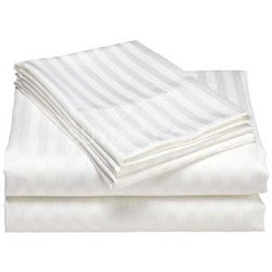 Luxurious 400 Thread Count Woven Cotton Sateen Sheet Set - White (Queen)