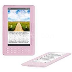 """7"""" TFT Color eBook Reader - Pink"""