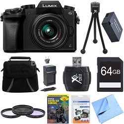 LUMIX G7 Interchangeable Lens 4K Ultra HD DSLM Camera 14-42mm Lens 64GB Bundle