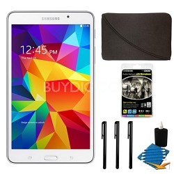 "Galaxy Tab 4 White 8GB 7"" Tablet and Case Bundle"