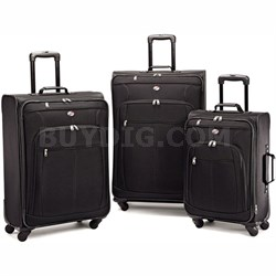 Pop Plus 3 Piece Nested Spinner Luggage Set Black 64590-1041