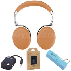 Zik 3 Wireless Noise Cancelling Bluetooth Headphones (Camel) Mobile Bundle