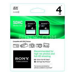 4GB SD 2-Pack Class 4 Memory (8 GB Total)