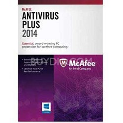McAfee Virus Scan 2014 (1 Year, 1 User)- Virus Protection, PC Optimizer
