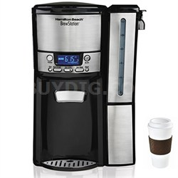 BrewStation 12 Cup Dispensing Coffee Maker w/ Removable Reservoir + Copco To Go