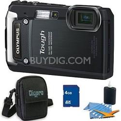 4GB Kit Tough TG-820 iHS 12MP Water/Shock/Freezeproof Digital Camera - Black