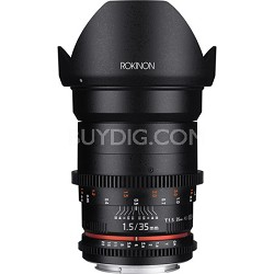 DS 35mm T1.5 Full Frame Wide Angle Cine Lens for Micro Four Thirds Mount