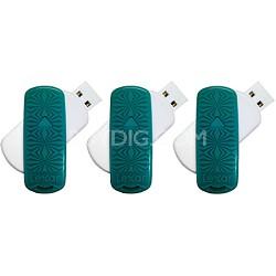 16 GB JumpDrive S33 USB 3.0 Flash Drive (Teal- Kaleidoscope) 3-Pack (48GB Total)