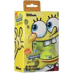 Spongebob Squarepants Recreational 6 Pack Golf Balls