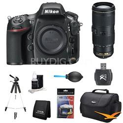D800E 36.3 MP CMOS FX-Format Digital SLR Camera Body 70-200mm Lens Kit