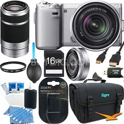NEX5NK/S - NEX-5N w/ 18-55mm & 55-210mm & 16mm Ultimate Bundle