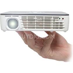 P450 Portable LED Pico Projector, 450 Lumens, HDMI, mini-VGA, Media Player