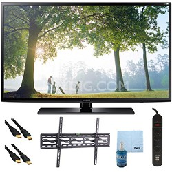 UN46H6203 - 46-Inch 120hz Full HD 1080p Smart TV Tilt Mount & Hook-Up Bundle
