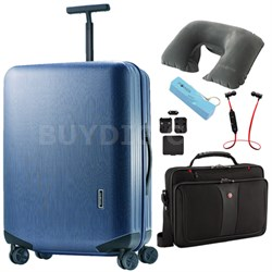Inova 28 Inch Hardside Spinner Indigo Blue - Ultimate Travel Bundle