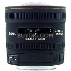 4.5mm F2.8 EX DC Circular Fisheye HSM For Canon EOS
