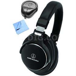 SR7 SonicPro Noise Cancellation Headphones w/ Slappa Case & Cleaning Cloth