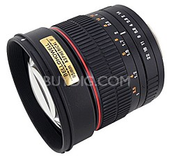85MAF-N - 85mm f/1.4 Aspherical Lens for Nikon DSLR Cameras w/Automatic  Chip