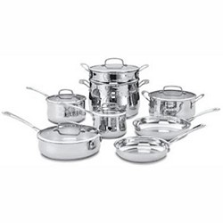 44-13 - Contour Stainless 13 Piece Cookware Set