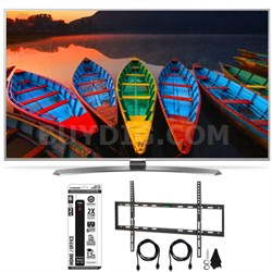 "65UH7700 65"" HDR 4K UHD Smart LED TV TruMotion 240Hz Flat Wall HDMI Bundle"