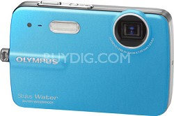 Stylus 550 10MP Waterproof Digital Camera (Blue) - REFURBISHED
