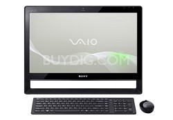 """VAIO 21.5"""" VPCJ113FX/B All-in-One Touch Screen Desktop PC - Intel Core i3-350M"""