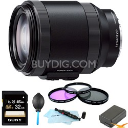 Alpha E-mount Power Zoom 18-200mm F3.5-6.3 OSS Essentials Bundle