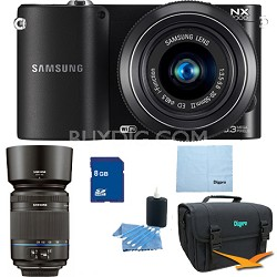 NX1000 20.3 MP Compact System Camera Two Lens Kit With 20-50 and 50-200 lenses