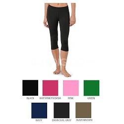 Capri Yoga Pants Black/Grape Purple(2-Pack) Size S/M