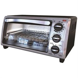 Black and Decker 4-Slice Bezel Toaster Oven - Black - TO1313SBD