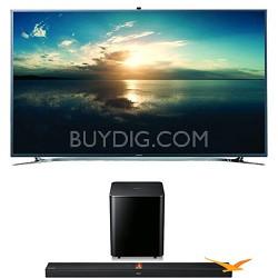 UN55F9000 55-Inch 4K Ultra HD 120Hz 3D Smart TV+ HW-F750 Soundbar Bundle