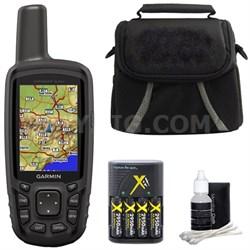 GPSMAP 64sc Handheld GPS 010-01199-30 w/ Compact Deluxe Gadget Bag Bundle