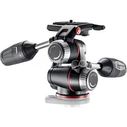 X-PRO 3-Way Head with Retractable Levers and Friction Controls - Black
