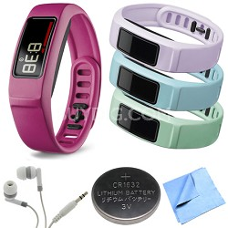 Vivofit 2 Bluetooth Fitness Band (Pink)(010-01503-03) Mint/Cloud/Lilac Bundle