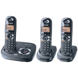 KX-TG4323B 5.8 GHz Expandable Digital Cordless Phone with 3 Handsets