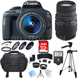 EOS Rebel SL1 18MP SLR Digital Camera with 18-55mm and 70-300mm Lens Bundle