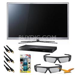 PN64D8000 64 inch  Slim Wifi 3D Plasma 25m:1 Contrast Ratio 3D Bundle