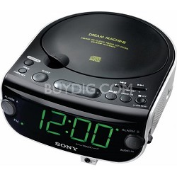 ICF-CD815 AM/FM Stereo CD Clock Radio with Dual Alarm