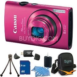 PowerShot ELPH 310 HS 12MP Pink Digital Camera 8GB Bundle