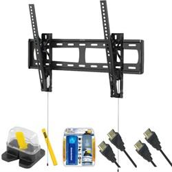 """Premium Slim Large Tilt TV Mount & Set Up Kit for 13""""-37"""" TVs up to 100LB"""