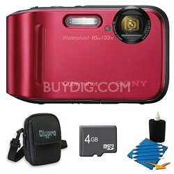 Cyber-shot DSC-TF1 16 MP 2.7-Inch LCD Waterproof Digital Camera Red Kit