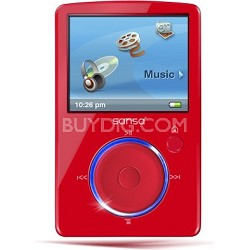 Sansa Fuze 4GB Red MP3 Video Music Player (SDMX14R-004GR-A57)
