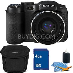FinePix S2950 14 MP 18x Wide Angle Zoom 3.0 LCD Digital Camera 4GB Bundle