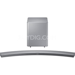 HW-H7501 8.1 Channel 320 Watt Wireless Audio Curved Soundbar - Silver - OPEN BOX