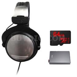 DT 880 Premium Black Version 250 OHM w/ FiiO A5 Headphone Amps Bundle