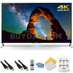 XBR75X910C - 75-inch 4K Ultra HD 3D Smart LED + Hookup Kit