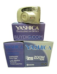 EZ Zoom 105 QD 35mm film Camera includes accessory kit