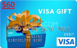 $60 Gift Card (Allow 6-8 weeks for delivery)