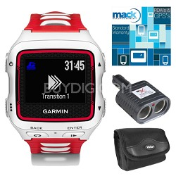 Forerunner 920XT Multisport GPS Watch - White/Red Bundle