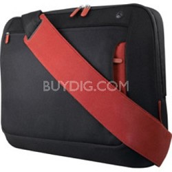 Messenger Bag for notebooks up to 17''  Jet/Cabernet