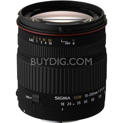 Wide Angle Zoom 18-200mm f/3.5-6.3 DC Canon Lens (Factory Refurbished)